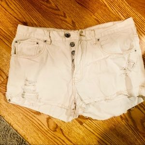 Urban outfitters BDG button fly white shorts 31